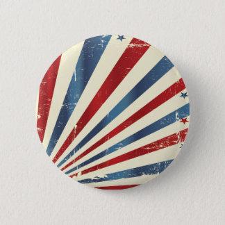 Bóton Redondo 5.08cm Vintage/bandeira dos Estados Unidos envelhecida da