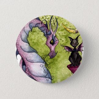 Bóton Redondo 5.08cm Violette e botão da obsidiana
