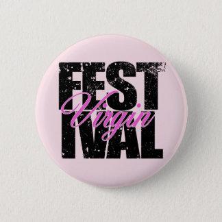 Bóton Redondo 5.08cm Virgin do festival (preto)