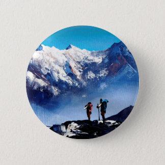 Bóton Redondo 5.08cm Vista panorâmica da montanha máxima de Ama Dablam