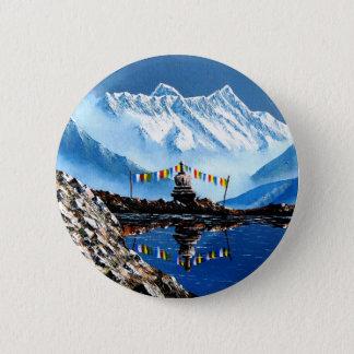Bóton Redondo 5.08cm Vista panorâmica da montanha Nepal de Annapurna