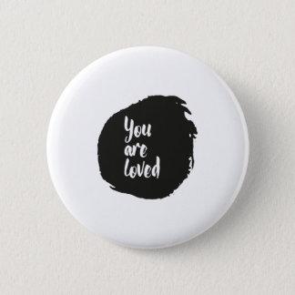 """Bóton Redondo 5.08cm """"Você é"""" padrão amado, botão redondo da polegada"""