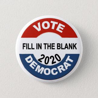 Bóton Redondo 5.08cm Voto Democrata 2020
