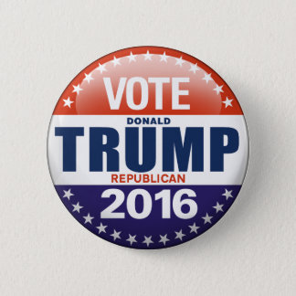 Bóton Redondo 5.08cm Voto Donald Trump para o presidente 2016