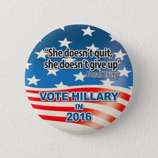 Bóton Redondo 5.08cm Voto para Hillary, citações do trunfo