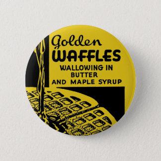 Bóton Redondo 5.08cm Waffles dourados que Wallowing na manteiga