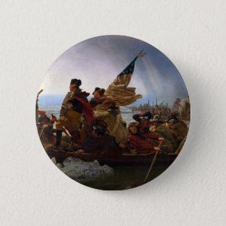 Bóton Redondo 5.08cm Washington que cruza arte do vintage do Delaware -