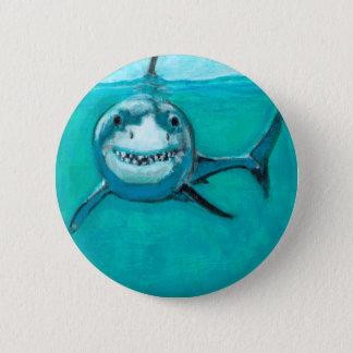 "Bóton Redondo 5.08cm ""Wayne"" o grande tubarão branco"