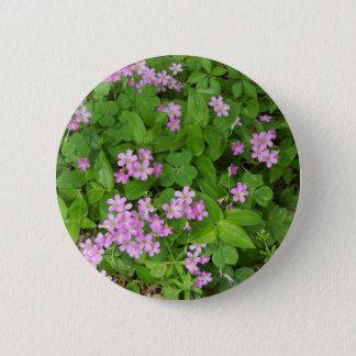 Bóton Redondo 5.08cm Wildflowers delicados cor-de-rosa pequenos