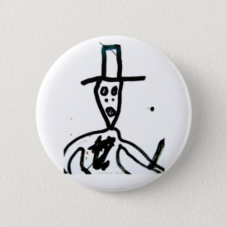 """Bóton Redondo 5.08cm william S. Burroughs """"homem no chapéu """""""