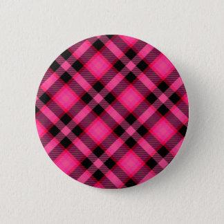 Bóton Redondo 5.08cm Xadrez, punk, Emo, ou formal do rosa quente