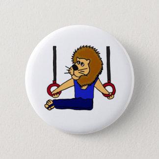 Bóton Redondo 5.08cm XX- Gymnast do leão nos desenhos animados dos