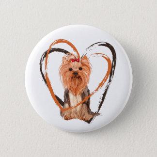 Bóton Redondo 5.08cm Yorkshire terrier bonito
