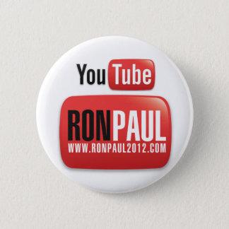 Bóton Redondo 5.08cm YouTube Ron Paul