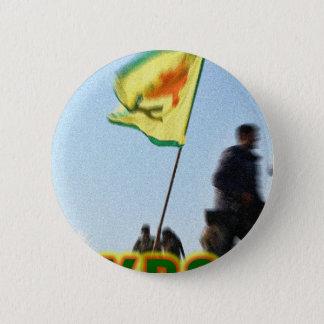 Bóton Redondo 5.08cm YPG - Lutadores curdos da liberdade de Kobani v2