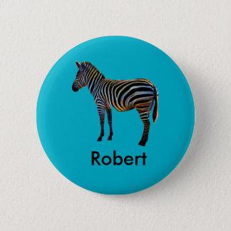 Bóton Redondo 5.08cm Zebra de néon