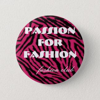 Bóton Redondo 5.08cm zebra, paixão para a forma, clube da forma