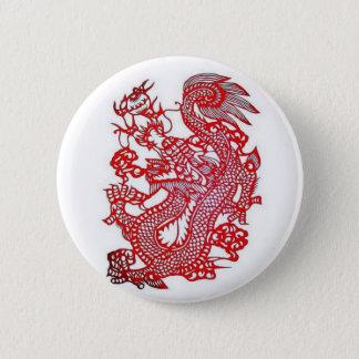 Bóton Redondo 5.08cm Zodíaco Dragão-Chinês