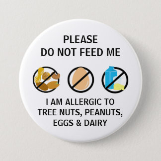 Bóton Redondo 7.62cm A alergia da leiteria do ovo da porca não alimenta