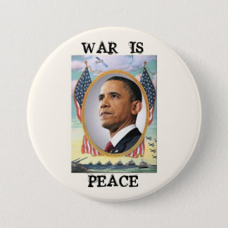 Bóton Redondo 7.62cm A guerra é paz
