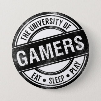 Bóton Redondo 7.62cm A universidade do botão engraçado dos Gamers