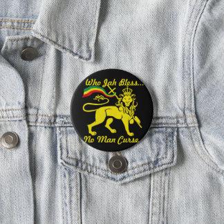 Bóton Redondo 7.62cm Acessório de Jah Rastafari: Botão do leão de Rasta