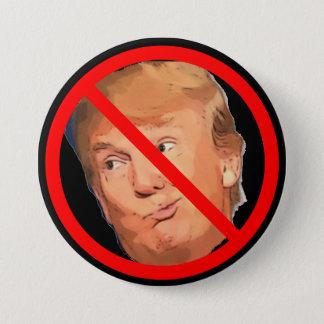 Bóton Redondo 7.62cm Acuse o botão de Donald Trump