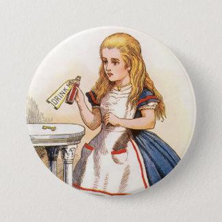 "Bóton Redondo 7.62cm Alice-Bebida-mim - 3"" botão"