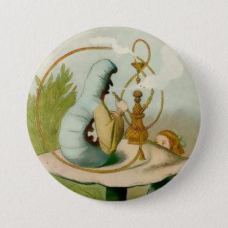"""Bóton Redondo 7.62cm Alice-Caterpillar com Hooka - 3"""" botão"""