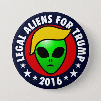 Bóton Redondo 7.62cm Aliens legais para o presidente de Donald Trump em