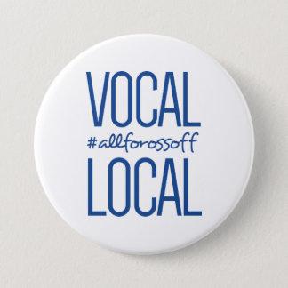 Bóton Redondo 7.62cm #AllForOssoff vocal & local - AZUL