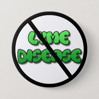Bóton Redondo 7.62cm Anti botão da doença de Lyme