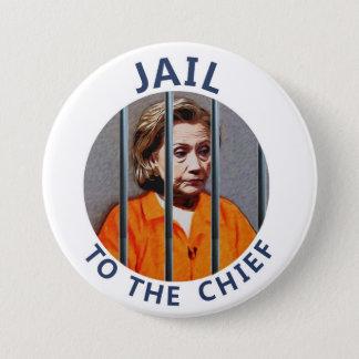 Bóton Redondo 7.62cm Anti-Hillary Clinton