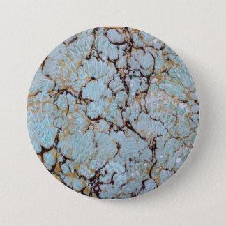 Bóton Redondo 7.62cm arte marmoreando do botão