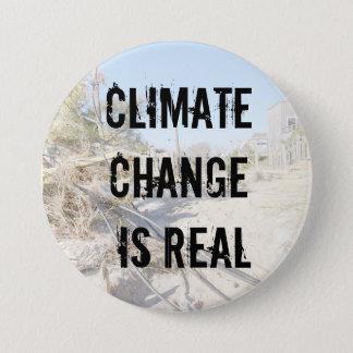 Bóton Redondo 7.62cm As alterações climáticas são botão real
