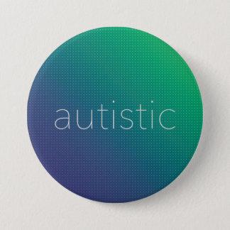 Bóton Redondo 7.62cm Autístico - reticulação verde e azul