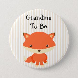 Bóton Redondo 7.62cm Avó a ser tema das florestas do botão