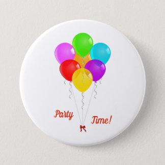 Bóton Redondo 7.62cm Balões do partido
