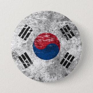 Bóton Redondo 7.62cm Bandeira coreana sul arrastada e vestida