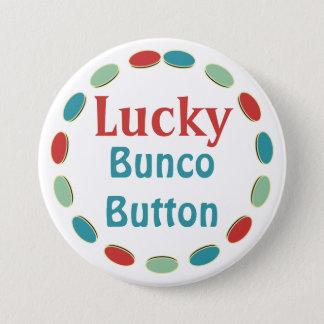 Bóton Redondo 7.62cm Botão afortunado