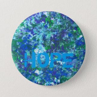 Bóton Redondo 7.62cm Botão azul da esperança por KitCaseyStudio
