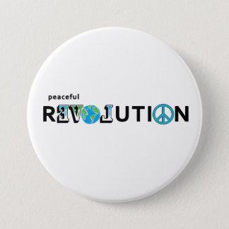 Bóton Redondo 7.62cm BOTÃO calmo da TERRA do AMOR da revolução