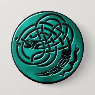 Bóton Redondo 7.62cm Botão celta do nó do dragão de Wintergreen