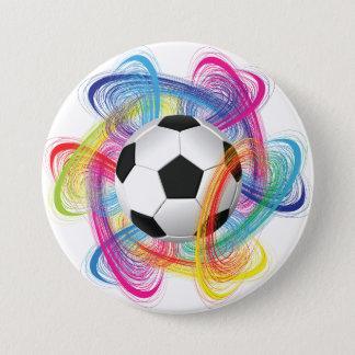 Bóton Redondo 7.62cm Botão colorido da bola de futebol