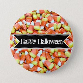 Bóton Redondo 7.62cm Botão colorido feliz do milho de doces do Dia das