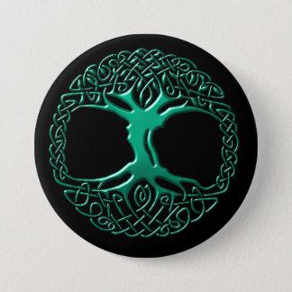 Bóton Redondo 7.62cm Botão da árvore do mundo de Wintergreen
