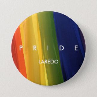 Bóton Redondo 7.62cm Botão da bandeira do arco-íris do ORGULHO
