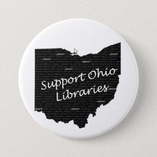 Bóton Redondo 7.62cm Botão da biblioteca de Ohio do apoio grande