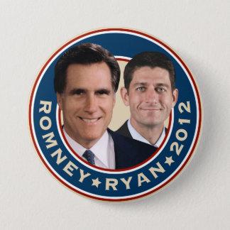 Bóton Redondo 7.62cm Botão da campanha de Romney-Ryan 2012