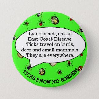 Bóton Redondo 7.62cm Botão da consciência da doença de Lyme, botão do